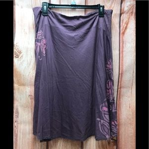 Life is good purple floral size large skirt